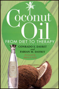 Coconut Oil from Diet to Therapy book cover.