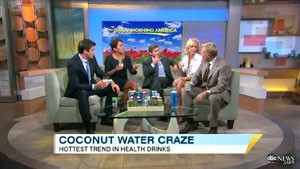Video still from Today Show segment on coconut water